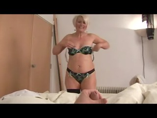 mature bimbo ruling over a penis point of view