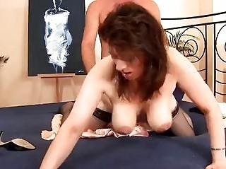 naughty grown-up chick inside pantyhose pierced