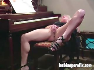 two grown-up women naked and dildoing