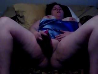 bbw wife filmed pushing dildo by fucker