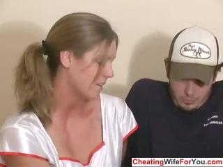 slutty slut gives a handjob