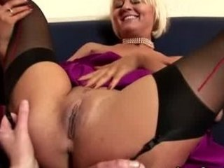 classy grown-up stocking lesbian oral