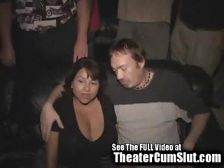 big titty latino milf gets gang banged inside a