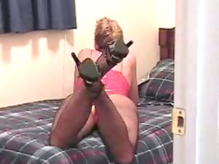 whore woman masterbating while looking at filthy