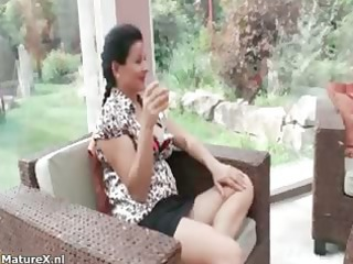 busty brunette grown-up dike moms part5