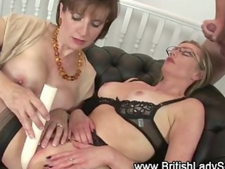mature nylons bitch acquires a white cream