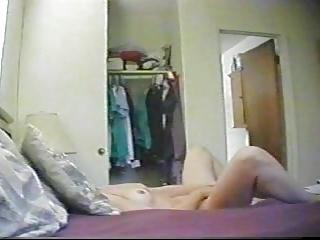 stay at house woman hidden cam masturbation