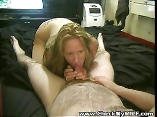 fresh older lady tasting hubbys cock dry