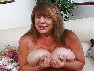 older momma with extra gigantic bosom sticks