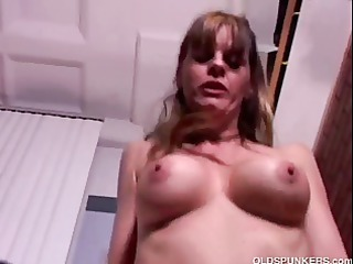 lovely grown-up chick enjoys a bang and a facial