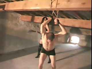 slave male acquires punished by her milf woman