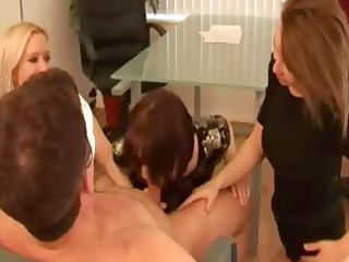 three super matures sensually masturbating masked