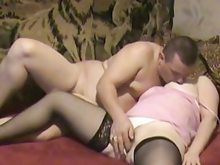 smooth butt brunette woman into stoc...