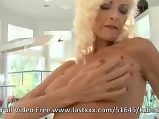 grown-up blond with large boobs and chubby cocks