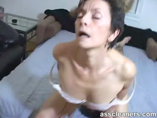 slutty older angel facesits a slave for arse