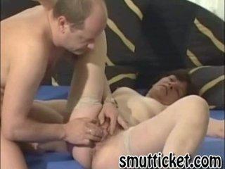 older slut pierced into her hirsute kitty