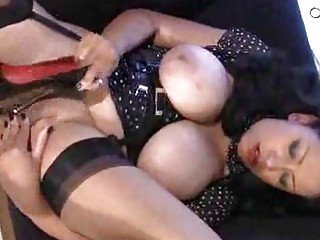 huge tits on mature into stockings stroking vagina