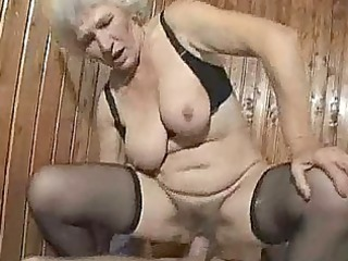 tough grown-up old gang bang