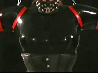 babe slave inside hot rubber latex suit