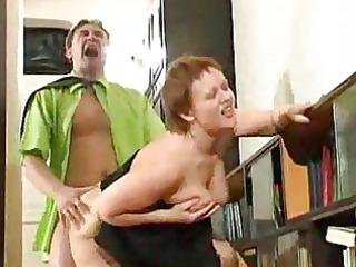 fat elderly housewife pierced by horny boy
