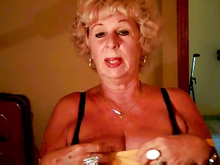 old andrea exposes her juicy boobs