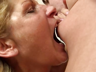 cougar renate (a.k.a. betina) lick and pierce