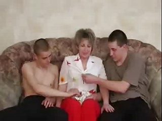 russian mature like with two guys