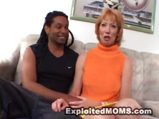 strawberry blond lady gets these black cock to