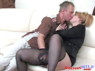 grownup russian drilled by sex toy and dick