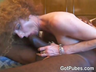 blond lady spreads her shaggy vagina and acquires