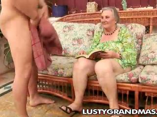 horny granny margots bushy cave for young dick