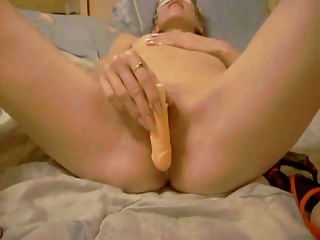 masked cheating wife masturbating with her cave