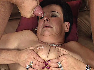 elderly milf inside three people