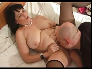 fat and sexy older in bedstead