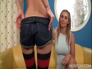 woman and daughter uncovering genitals