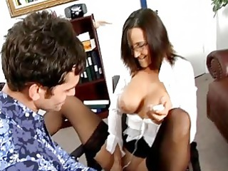hardcore workplace joy with cougar babes into