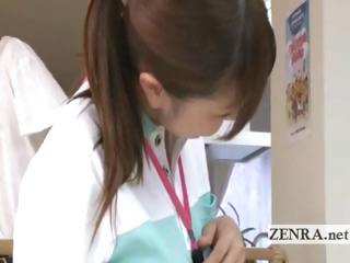 older patient sucks japanese nurses kitty and anus