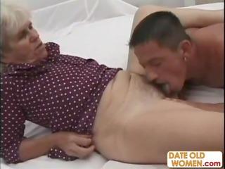 grandma takes deep gangbanged by a fresh penis