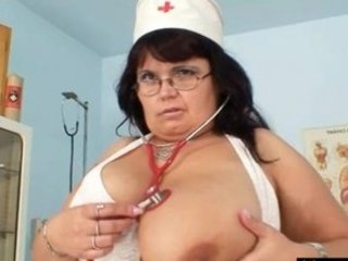 giant chest milf doctor exposes off her big
