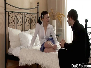 amateur babe gangbanged on her mothers bunk