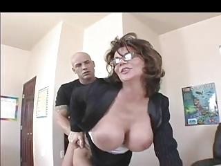 naughty milf teacher into pantyhose fucks