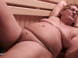 inexperienced older babes at sauna