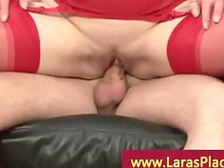 sluty mature chick banging on the furniture