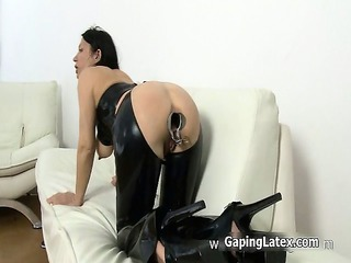 dirty whore goes horny pushing dildo part4