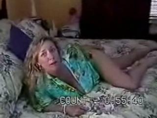 huge tit woman has fuck on her moms bedstead