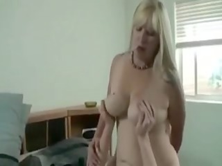 breasty goldenhaired mommy bonks stepson
