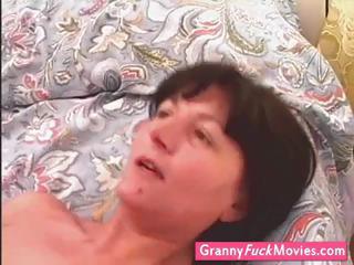 boy gang-banging those old until she cums