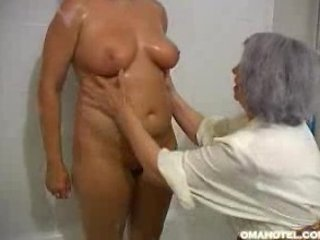 elderly enjoys to massage