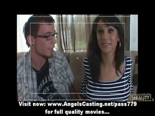 charming brunette inexperienced angel doing dick