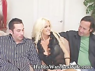 mature wife bangs young stud as hubby watches
